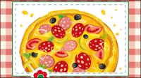 La pizza de bande dessin��e 03 - mat��riel vecteur
