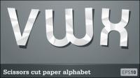 Lettres coupe-papier 03 - mat��riel vecteur