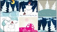 Cartoon Christmas Illustrator 02 - Vektor Material