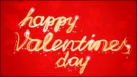 Valentine Hintergrund WordArt 02 - Vektor Material