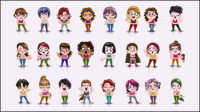 Personajes de dibujos animados - vector