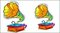 Colorido ilustraciones pintadas a mano 02 - vector de material