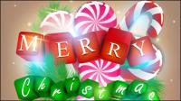 Eine wunderschöne Christmas elements background 01 - Vektor Material
