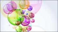 Mat��riel vecteur - fond de 01 bulles color��es