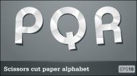 Cartas de papel de corte 04 - vector de material