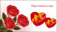 Valentine Hintergrund 04 - Vektor Material