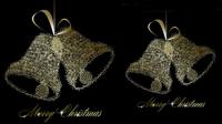 Die exquisite Weihnachtsglocken background 04 - Vektor Material