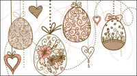 Hand-painted Easter pattern 03 - vector material