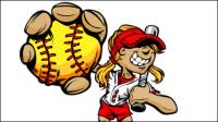 Figuras del b¨¦isbol de dibujos animados 05 - vector de material