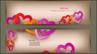 Valentine Kennzeichnungselemente 03 - Vektor Material