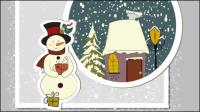 La carte de voeux de Noël exquise - mat��riel vecteur