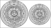 Motifs mayas 03 - mat��riel vecteur