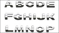 Letras met¨¢licas - vector de material