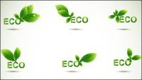 Hoja verde de forma frontera 04 - vector de material