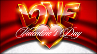 Fancy Valentine fondo 03 - vector de material