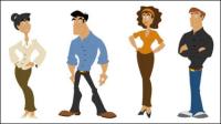 Personnages de dessin anim�� mignon 03 - mat��riel vecteur