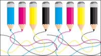CMYK color 03 - vector de material