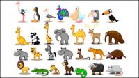 Nette Karikatur-Tiere 01 - Vektor Material