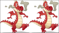Cartoon Drachen Bild 02 - Vektor Material