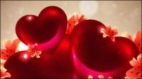 Romantique en forme de coeur fond 04 - mat��riel vecteur