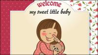Cartoon tarjeta de beb¨¦ 01 - vector de material