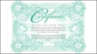 Mention ��logieuse Certificat 01 - mat��riel vecteur