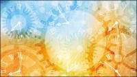 Wunderschöne Silhouette Hintergrund 05 - Vektor Material