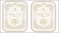 Europäische Muster Zertifikatvorlage 02 - Vektor Material