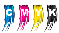 CMYK Colors 04 - mat��riel vecteur
