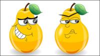 Le poires expression de bande dessin��e - vecteur mat��riel