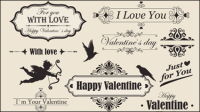 Él��ments la Saint-Valentin de dentelle vecteur mat��riel