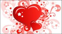 Heart-shaped Valentinstag-Karte 02 - Vektor Material