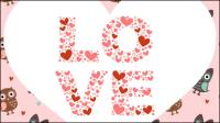 Les illustrations de la Saint-Valentin 03 - mat��riel vecteur
