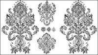 Patrones en blanco y negro 02 - vector de material