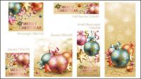Beaux ��l��ments de d��coration de Noël 02 - mat��riel vecteur