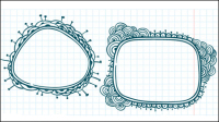 Hand-painted cartoon lace 03 - vector material