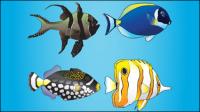 Los peces marinos de dibujos animados - vector de material