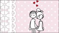 Ligne est d��livr�� sur les illustrations de la Saint-Valentin 04 - mat��riel vecteur