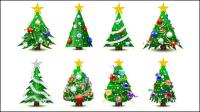Wunderschöne Weihnachtsbaum - Vektor Material