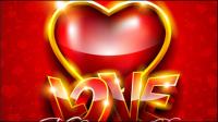 Die herrliche Valentine Hintergrund 05 - Vektor Material