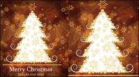 Brown wunderschönen Christmas background 03 - Vektor Material