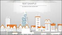 Papel de construcci¨®n de dibujos animados de corte 03 - vector de material