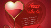 Beautiful valentine background 05 - vector material