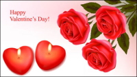 Romantische Valentinstag Element 1 - Vektor-Material
