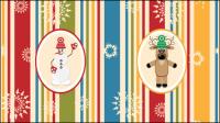 Noël de bande dessin��e de fond 01 - vecteur mat��riel