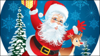 Cute Santa Claus Illustrator 01 - Vektor Material