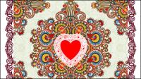 En forme de coeur Valentine carte 01 - mat��riel vecteur