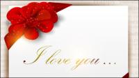 Belle carte de Valentine - vecteur mat��riel