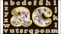 Lettres de diamant 02 - mat��riel vecteur