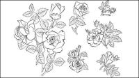 Handbemalte Blumen Material 04 - Vektor Material